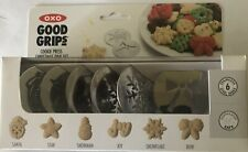 ⭐️Set of 6 Christmas disks for the OXO Cookie Press NEW in box-Santa, Bow, Star+