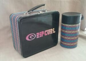 Rip Curl metal lunch box tin with food flask