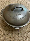 Vintage Wagner Ware Sidney -O- #8 Drip Drop Roaster Cast Iron Dutch Oven w/Lid