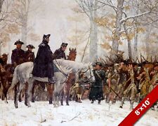 GEORGE WASHINGTON AT VALLEY FORGE PAINTING CANVAS GICLEE 8X10 ART PRINT