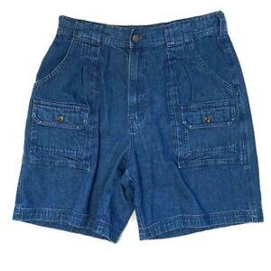 Cabela's 7-Pocket Hiker Shorts Blue Denim Size 12