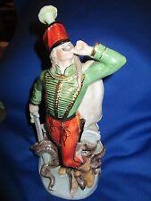 "Herend Porcelain Hungarian Hussar Soldier Dragon Slayer Figure 8.5"""