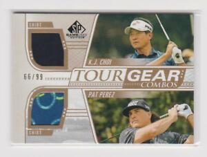 Choi / Perez 2021 SP Game Used Golf Tour Gear Combos Shirt #TG2-PC (66/99)