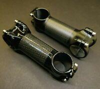 Carbon/Alloy Bicycle Stem MTB Road Bike Handlebar 31.8x100mm 6/17 Matte Gloss