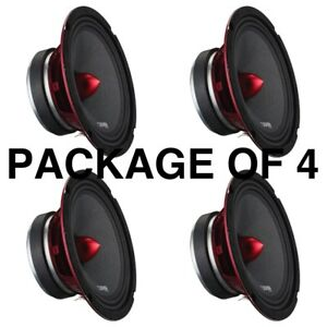 "4 DS18 PRO-X6.4BM 2400W Max 6.5"" Midrange Speakers Loudspeaker With Bullet 4 Ohm"
