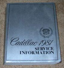 1981 CADILLAC Fleetwood Eldorado Deville Etc. Original Shop Service Manual NICE!