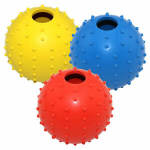 Pet Dog Ball with bell, Sound Activity Training Tooth Care random colour sent