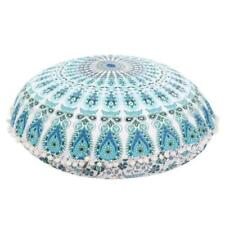 """32""""Indian Large Ombre Floor Pillows Round Meditation Cushion Cover Ottoman Pouf"""