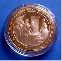 1776 Declaration​ of Independence​c. Franklin Mint Solid Bronze Medal
