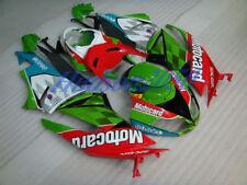 Fairing Set For Kawasaki Ninja ZX6R ZX-6R 2009-2012 09 10 11 Kit #06 Red/Green