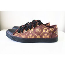Harajuku Lovers Brown Canvas Jacquard Shoes by Gwen Stefani of L.A.M.B. Size 7