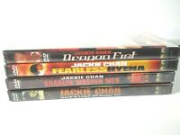 Lot Of 4 New Sealed Jackie Chan Movies Fearless Hyena Dragon Fist