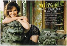 Coupure de presse Clipping 2012 (4 pages) Bérénice Marlohe 7ème james Bond Girl