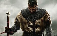 Incorniciato stampa-KNIGHTS TEMPLAR con sanguinoso SPADA sul campo di battaglia (Picture