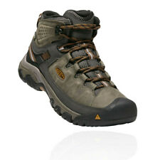 Keen Mens Targhee III Waterproof Mid Walking Boots Brown Green Sports Outdoors