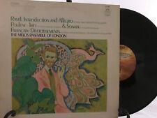 RAVEL-INTRODUCTION & ALLEGRO-POULENC-TRIO-ORIGINAL ANGEL RECORDS S-36586 LP EX!
