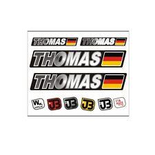 THOMAS Auto Fahrrad Motorrad Kart Helm Fahrername Aufkleber Sticker Flagge