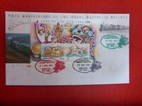 QLD STAMP SHOW 3 DAYS TRAIN POSTMARKS ON  OVERPRINTED M/SHEET ON RAIL PSE