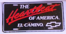 THE HEARTBEAT OF AMERICA EL CAMINO ALUM LICENSE PLATE CHEVY MADEUSA CHEVROLET SS