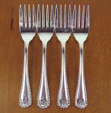 "4 x Salad Forks 6"" Birks Regency Plate Cascade vintage silver silverplate"