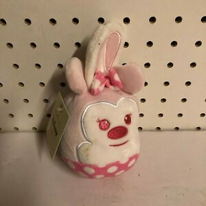 "Hallmark Fluffballs 3.5"" Plush Character Ornament Minnie Mouse Stuffed Animal"