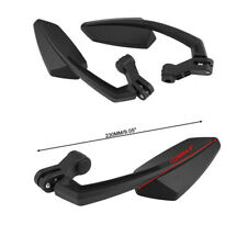 Motorcycle Black Angled Style Side Rearview Mirrors Universal For Honda