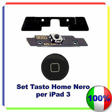 Kit Set Tasto Home button completo per iPad 3 NERO