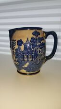 Antique 1906 Buffalo Pottery Blue Willow Pitcher