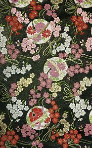 Vintage Japanese Kimono Obi Kinran Fabric Quilting Patchwork