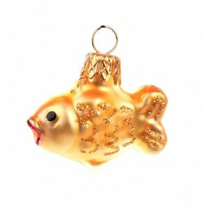 Handmade Glass Bauble Mini Gold Fish Christmas Tree Decoration