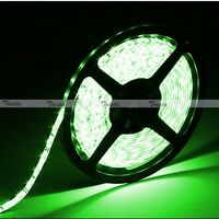 Green Waterproof 5M 300 Leds 3528 1210 SMD Flexible Strip Light 12V DC Black PCB