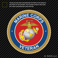 US Marine Corps Veteran Sticker Die Cut Vinyl usmc vet ega eagle globe anchor