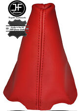 RED LEATHER FITS PEUGEOT 206 206 CC 1998-2012 GEAR GAITER REAL LEATHER