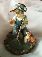 "Leonardo Collection Figurine Ornament A Good Catch  By Christine Haworth 5""x3.5"""