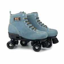 PU Leather Roller Skates Double Line Skates Skating Shoes Patines 4 Wheels Sport