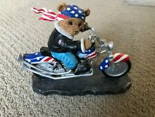 New listing Faithful Fuzzies Bear To Be Wild Born To Ride American Eagle Flag Motorcycle Usa