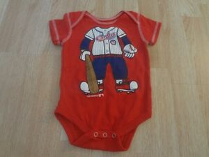 Infant/Baby Chicago Cubs 6/9 Mo Creeper One-Piece Player (Red)