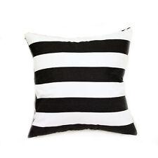 Black and White Stripe Cotton Canvas Cushion Cover European Pillowcase 65x65cm