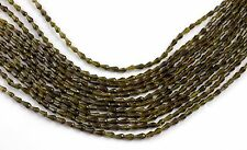 "1 Strand Green Tourmaline 2.5X4mm Faceted Rondelle Drops Gemstone Beads 13""Long"