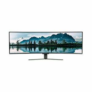 "NEW electriQ 49"" QLED Double Full HD Super UltraWide FreeSync Curved Monitor"