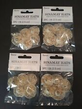 """Wholesale Lot 20 natural Sinamay Doll Hats 1"""" wide brim Doll Making or Crafts Fs"""