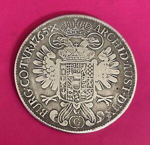 Foreign Silver Coin - 1765 - 1 Thaler - Austrian States -Burgau - VG (M.Theresa)