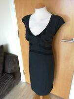Ladies JACQUI E Dress Size 14 Grey Wiggle Pencil Office Work Smart