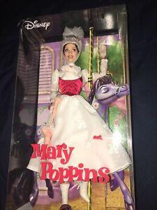 Disney Mary Poppins Barbie Doll Pink Label Collector Mattel 2007 NRFB Box Damage