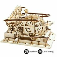 ROKR Marble Run 3D Wooden Puzzle Set Laser Cut DIY Waterwheel Coaster Model Kits