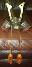 Vintage Ornate Mini Replica Japanese Boys Day Kabuto Samurai Warrior Helmet Nice