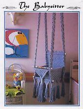 Vtg Macrame Baby Swing Seat Pattern Instructions Juliano's Hang It All Book 5