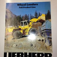 Liehberer Full Line Wheel Loader Sales Brochure & specifications. L531,L541,L551