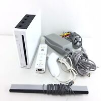 Nintendo Wii White Console RVL-001 Comlete & Tested - Fast Shipping - N04