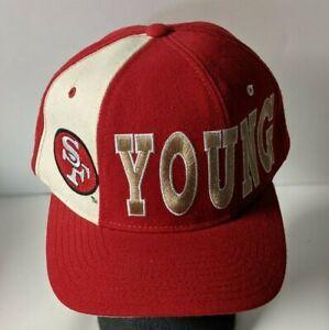 RARE STARTER PRO LINE STEVE YOUNG SAN FRANCISCO 49ers  HAT N/W/O/T